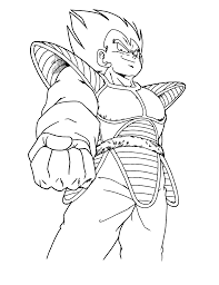 Free Printable Dragon Ball Z Colouring Pages 5