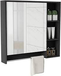 de spiegelschränke badezimmer massivholz spiegel box