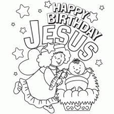 Happy Birthday Jesus Coloring Page 1