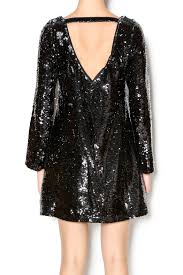 double zero long sleeve sequin dress from california by apricot