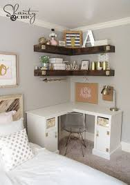 DIY Floating Corner Shelves Small Bedroom Ideas
