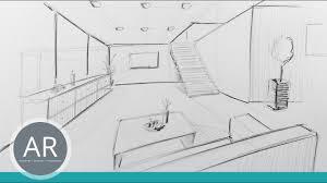 raum in zentral perspektive innenarchitektur zeichnungen mappenkurs innenarchitektur