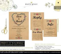 Book Club Invitation Template Rustic Wedding Invitations Templates Free