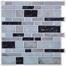peel n stick kitchen backsplash tiles brick pattern wall