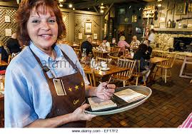 Vero Beach Florida Cracker Barrel Country Store restaurant woman waitress order job working employee Stock