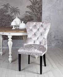 designer stuhl silber samtstuhl esszimmerstuhl polsterstuhl