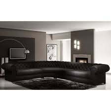 canapé d angle en cuir italien 7 8 places belisi achat