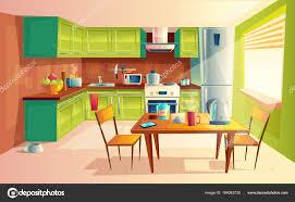 Interior Design Modern Kitchen Background 5 Stock Vektor 29 042 Modern Kitchen Interior Vectors Royalty Free Vector