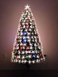 7ft Slim Led Christmas Tree by Amazon Com Led Fiber Optic Christmas Tree 7ft Home U0026 Kitchen