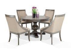 gatsby round 5 piece dining set with swoop chairs dining room