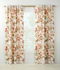 jacobean floral rod pocket with back tab curtains country