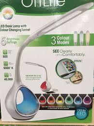 ottlite creative curves led desk l flexible 4 brightness