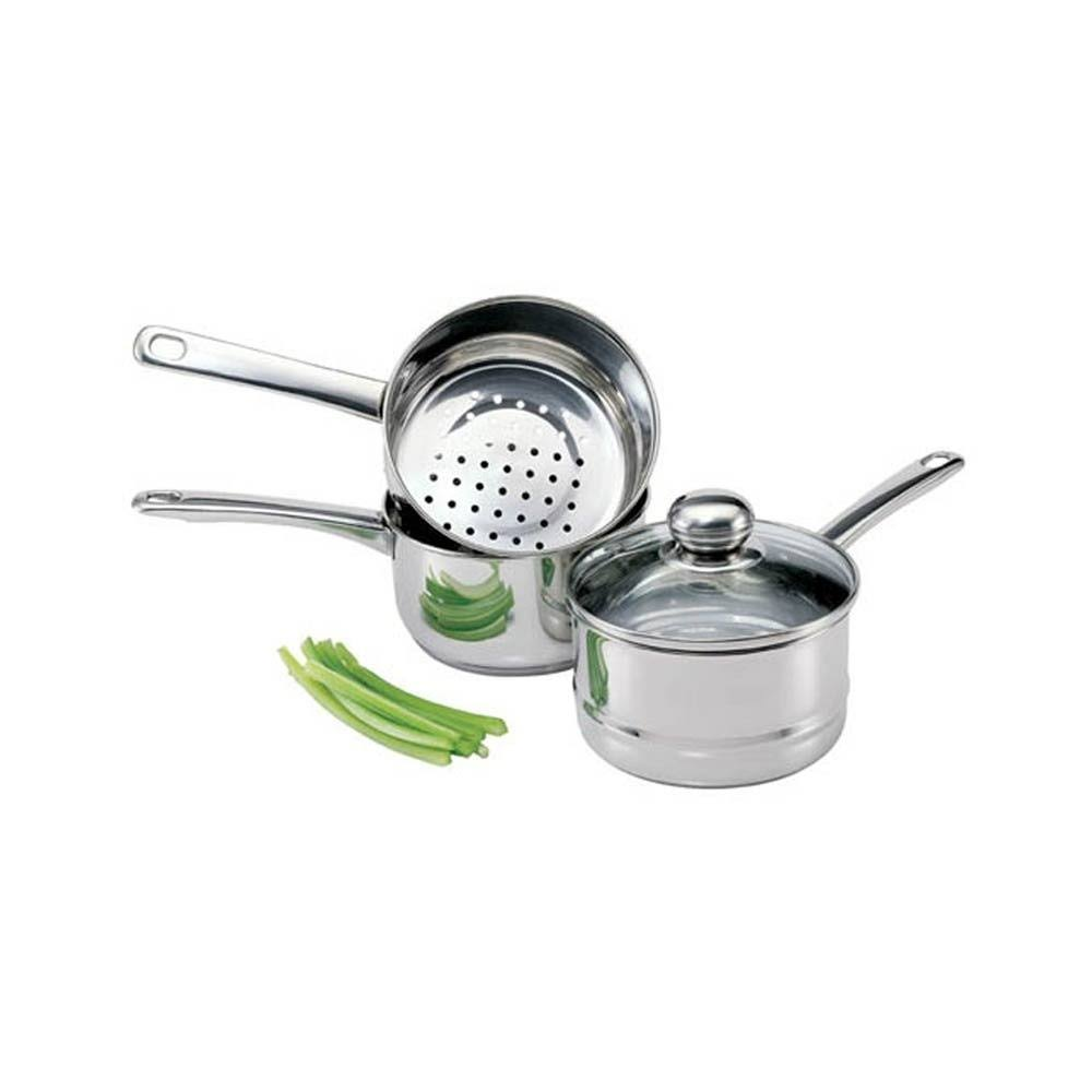 Culinary Edge Stainless Steel Steamer and­ Boiler Set