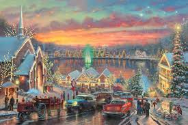 Thomas Kinkade Christmas Tree Village by The Lights Of Christmastown The Thomas Kinkade Company