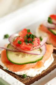 cuisine canapé smoked salmon canapes with chive cheese brunchweek