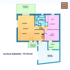 plan maison plain pied 2 chambres plan maison 80m2 plein pied plain 1 chambre 14 de traditionnelle