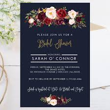 Digital 4x6 Fall Theme Bridal Shower Invitation