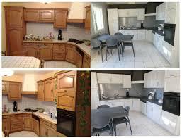 repeindre des meubles de cuisine en bois ma cuisine en chêne repeinte avant après cuisine en chêne