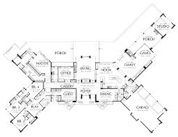 Prairie House Designs by Floor Plans Aflfpw01609 1 Story Prairie Home With 5 Bedrooms 5