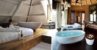 une chambre a coucher une baignoire dans la chambre à coucher 26 exemples magnifiques