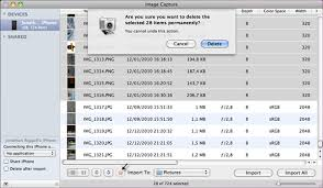 Delete import and manage iPhone photos on Mac