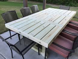 build your own rustic patio table using a few simple supplies and