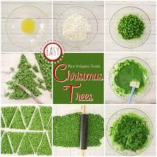 Easy Rice Krispies Treat Christmas Trees
