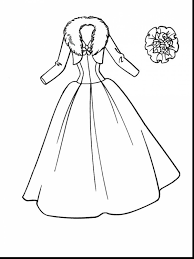 Magnificent Dress Coloring Pages With Wedding Free
