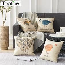 US $3.49 50% OFF|Topfinel Birds And Leaves Cushion Cover Cheap Grey Pillow  Covers For Puff Sofa Seat Chair Linen Decorative Throw Pillow Cases-in ... Free Shipping Modern 8 Colors Solid Sofa Chair Designer Faux Linen Like Throw Fashion Cushion Cover Decorative Home Pillow Case X45cm Footsi High Chair Cushion Cover Pimp My High Spandex Chiavari Tk Classics Laguna Outdoor Middle With 2 Sets Of Covers 28 Great Of Pasurable Photos Moroccan Wedding Blanket How To Easily Recover A Improvement Amazoncom Aztec Pattern Kilim Lumbar Vintage Motorcycle Racing Girl Cotton Pillowcase Seat Car Almofadas 40cm Fluffy Plush Soft Peacock Caribou