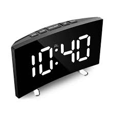 digital wecker gebogenen led bildschirm alarm uhren für