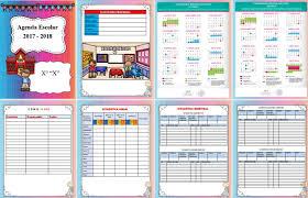 Maravillosa agenda para el ciclo escolar 2017 – 2018 editable en