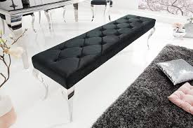 elegante sitzbank 170cm schwarz samt riess ambiente de