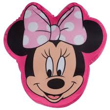 Minnie Mouse Rug Bedroom by Character World Disney Minnie Mouse Makeover Shaped Plush Cushion