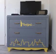 relooking chambre relooking meuble commode york idée déco chambre ado gris jaune
