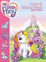 My Little Pony Color And Sticker Book By Ann Marie