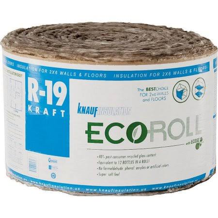 "EcoRoll KR46E Kraft Faced Fiberglass Insulation - 23"" x 39.16'"