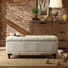 furniture ottoman bench seat tufted storage bench velvet