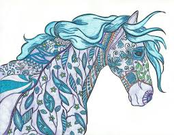 Have Fun Coloring These Intricate Hand Drawn Horses Your Creative Journey Starts Here The Amazing World Of Adult Book
