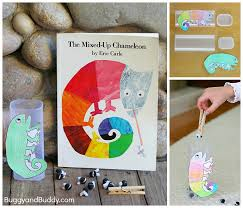 Fine Motor And Counting Game For Kids Based On Eric Carles The Mixed Up Chameleon