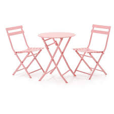 Amazon.com: 3 Piece Folding Tables Outdoor Chair Metal Patio ...