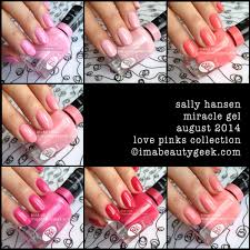 sally hansen miracle gel review color collection swatches