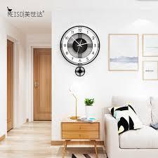 runde stille acryl dekorative pendel schaukel wanduhren modernes design wohnzimmer küche home dekoration wand uhr aufkleber