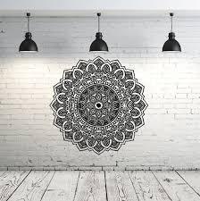 Mandala Wall Decal Yoga Studio Vinyl Sticker Decals Ornament Moroccan Pattern Namaste Lotus Flower Home Decor Boho Bohemian Bedroom ZX104