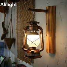 vintage crafted iron lantern led e27 wall l for bar
