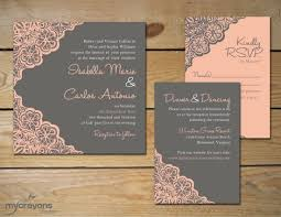 Rustic Inspired Lace Wedding Invitations