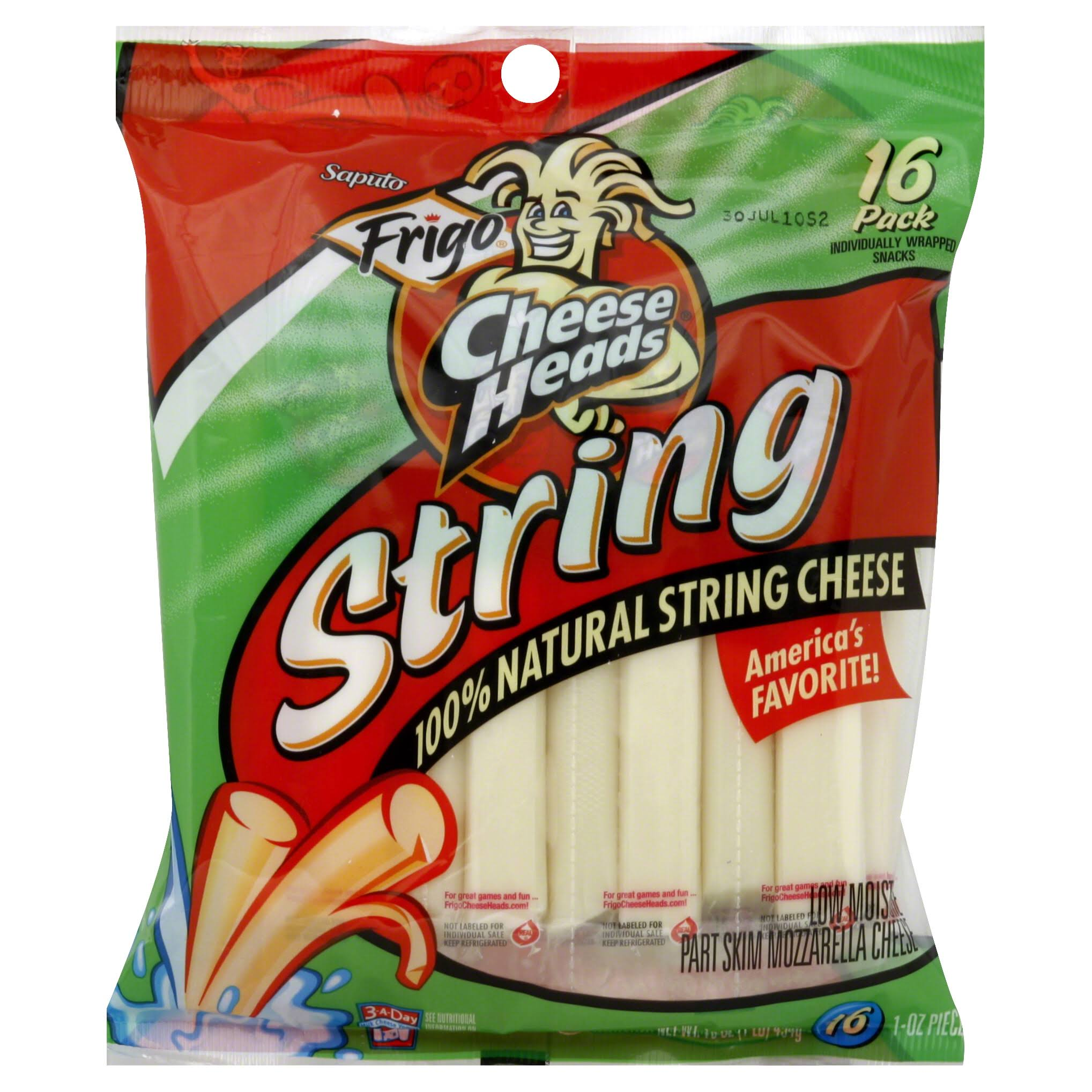 Frigo Cheese Heads String Cheese - Original, 16pk, 16oz
