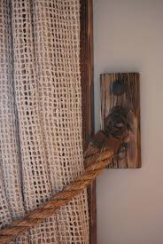 Rope Curtain Tieback Hemp Hardware From Italy Clavos Mexico Rustic Living Room