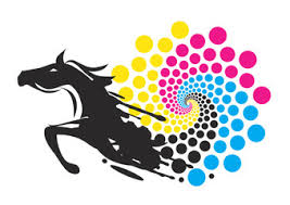 Horse With Print Colors Circle Black Running The Of