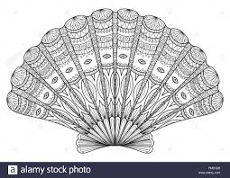 Seashell Line Art For Coloring Book T Shirt Design Effect Logo Tattoo And So On