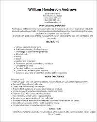 Call Center Rep Resume